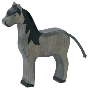 HOLZTIGER Pferd stehend, schwarz