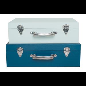 JaBaDaBaDo Aufbewahrungskoffer aus Pappe in blau im 2er Set - Holzspielzeug Profi