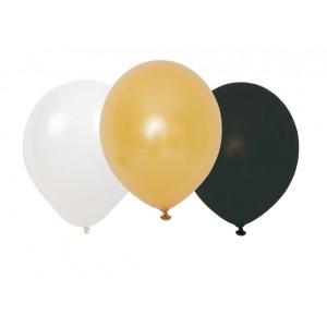 JaBaDaBaDo Luftballons Konfetti in schwarz-weiß-gold (9 Stk.) - Holzspielzeug Profi