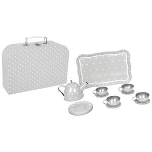 JaBaDaBaDo Tee-Set im Koffer grau - Holzspielzeug Profi