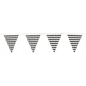 JaBaDaBaDo Stoffwimpelkette schwarz-weiß: Detail - Holzspielzeug Profi