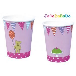 JaBaDaBaDo Trinkbecher mit Motiv in pink - Holzspielzeug Profi