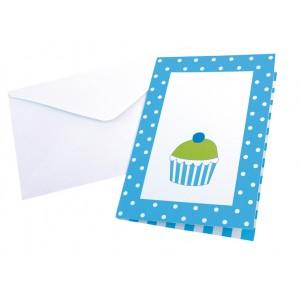 JaBaDaBaDo Party Einladungskarten zum Kindergeburtstag in blau mit Umschlag - Holzspielzeug Profi