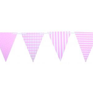 JaBaDaBaDo Große Party Wimpelkette rosa: Detail - Holzspielzeug Profi