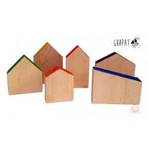 Grapat 6 Häuser - Holzspielzeug Profi