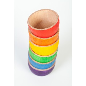 Grapat 6 Bowls Schälchen - Holzspielzeug Profi