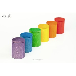 Grapat Becher mit Deckel (Cups with Lid) - Holzspielzeug Profi