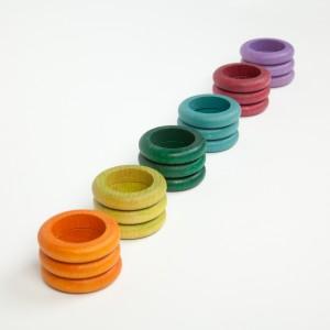 Grapat 18 Ringe alternative Farben - Holzspielzeug Profi
