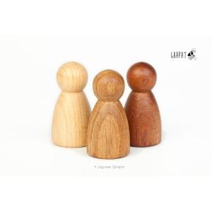 Grapat 3 Nins® - 3 Holzarten - Holzspielzeug Profi