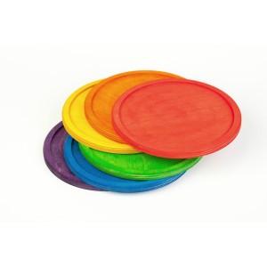 Grapat 6 Regenbogen Teller - Holzspielzeug Profi