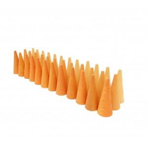 Grapat Mandala Kleine orangefarbene Kegel Cones - Holzspielzeug Profi