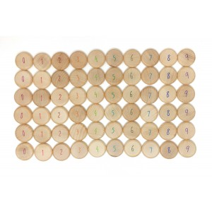 Grapat Münzen zum Zählen - Coins to count - Holzspielzeug Profi