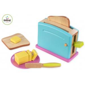 KidKraft Buntes Toaster Set - Holzspielzeug Profi