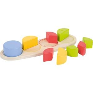 Steckpuzzle Bruchkreise Educate - Holzspielzeug Profi