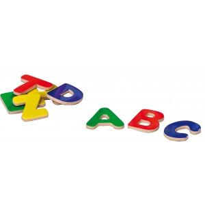 Bunte Magnetbuchstaben aus Holz - Holzspielzeug Profi