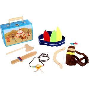Kinderkoffer Indianer - Holzspielzeug Profi