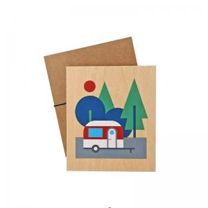 Lubulona Holzbild Illustration Caravan: dekoriert - Holzspielzeug Profi