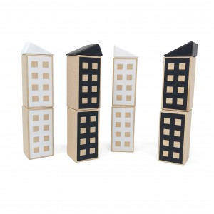 Lubulona Happy Houses Black & White - Holzspielzeug Profi