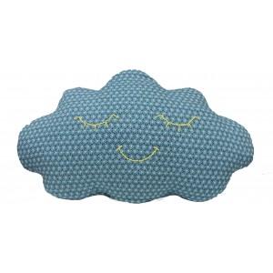 Deko Kissen Clouds blaue Blume von MOEPA - Holzspielzeug Profi