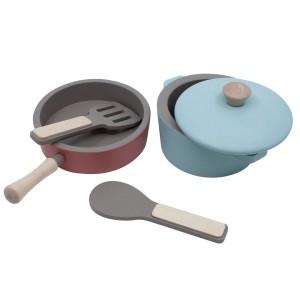 sebra Kinder Küchengeräte Set aus Holz - Holzspielzeug Profi
