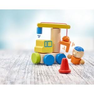 Selecta Klettini® Baustelle - Holzspielzeug Profi