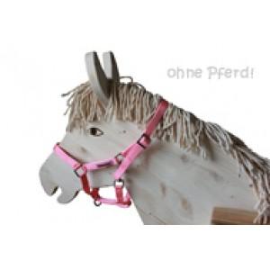 Helga Kreft Halfter Susi rosa für Gartenpferde (ohne Pferd) - Holzspielzeug Profi
