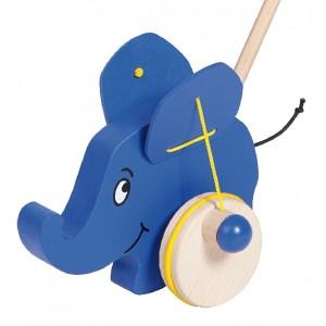 Schiebespielzeug Elefant von Helga Kreft - Holzspielzeug Profi