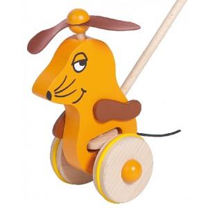 Schiebespielzeug Maus von Helga Kreft: Detail - Holzspielzeug Profi