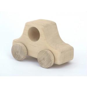 Holzauto Jutta natur von Schaukeltier: von vorne - Holzspielzeug Profi