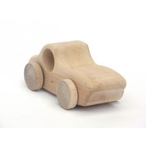 Holzauto Colette natur von Schaukeltier: von vorne - Holzspielzeug Profi