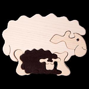 Tedefamily Puzzle Schaf mit Lamm - Holzspielzeug Profi