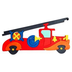 Tedefamily Puzzle Feuerwehr - Holzspielzeug Profi