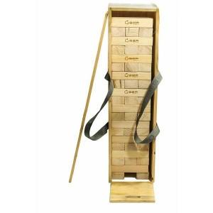 Übergames Riesenwackelturm mit Holzkiste - Holzspielzeug Profi
