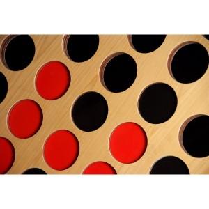Ersatzscheiben für Übergames Giga 4 gewinnt (3x rot und 3x schwarz)