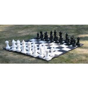 Übergames Garten Schachspiel inkl. Garten Schachmatte - Holzspielzeug Profi