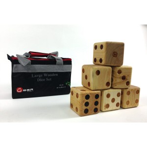 Übergames Großes Würfelspiel (9x9x9cm) mit Nylontasche - Holzspielzeug Profi
