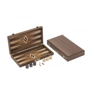 Übergames Backgammon aus Walnuss-Furnier - Holzspielzeug Profi