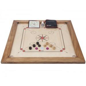 Übergames Carrom Turnier Set - Holzspielzeug Profi