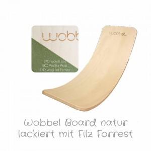 Wobbel Original in natur klar lackiert mit Filz Forrest: Farbauswahl - Holzspielzeug Profi