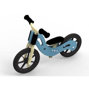 WoodyWheelers Laufrad Boogey blau- Holzspielzeug Profi