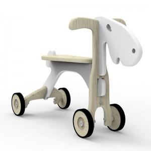 WoodyWheelers Rutschfahrzeug Sheepy weiß - Holzspielzeug Profi
