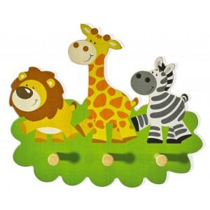 Kindergarderobe Tierspaziergang Wildtiere von Weizenkorn - Holzspielzeug Profi