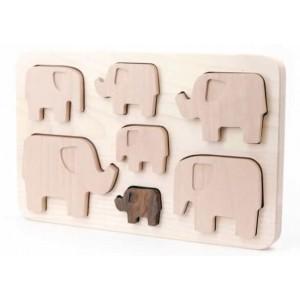 BAJO Puzzle Elefanten