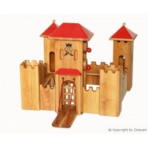 Drewart Ritterburg: Mittelgroßes Schloss mit rotem Dach - Holzspielzeug Profi