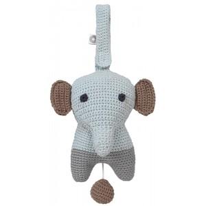 FRANCK & FISCHER Spieluhr Elefant Hella grau