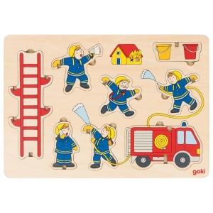 goki Aufstellpuzzle Feuerwehr - Holzspielzeug Profi