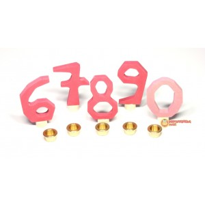 GRIMM´S Zahlenstecker 6-9 +0, rosa
