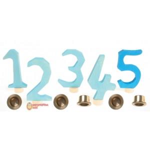 GRIMM´S Zahlenstecker 1-5, blau
