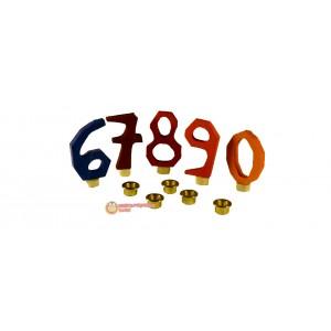 GRIMM´S Zahlenstecker 6-9 +0, bunt