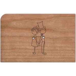 Holzpost® Grußkarte Hochzeitspaar